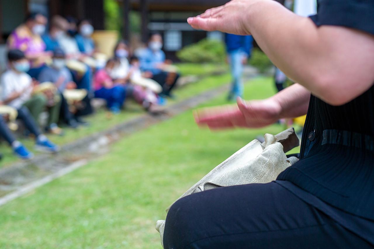 縄文太鼓は演奏会で披露される