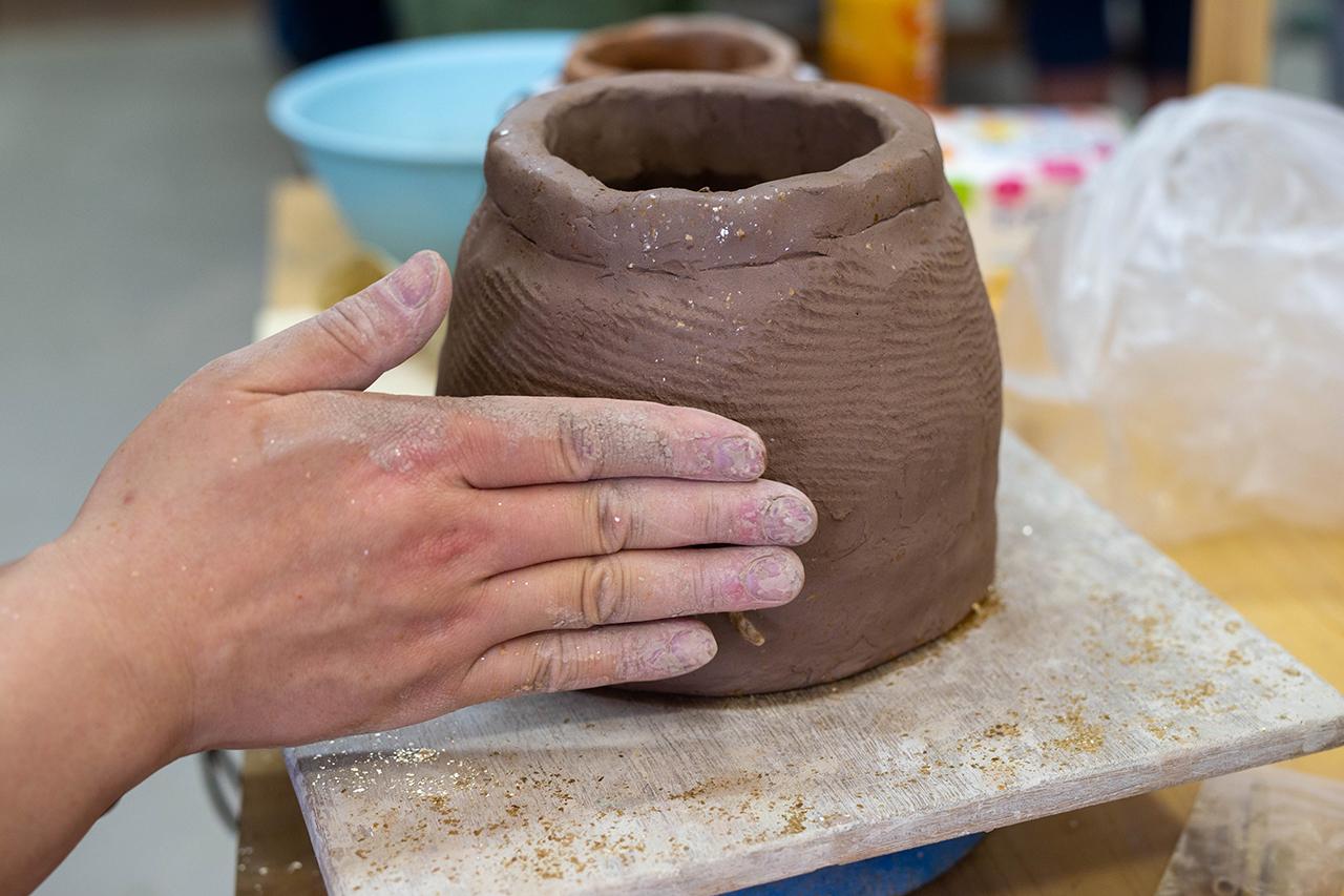 典型的な縄文土器の模様